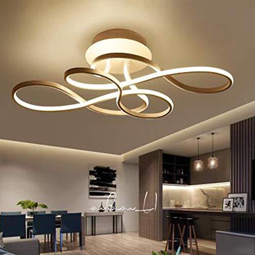 LED Restaurant Deckenleuchte Dimmbar Modern Acryl Kronleuchter Deckenlampe Geschwungene Metal Deckenstrahler für Wohnzimmer Schlafzimmer Bad Landhaus Lampen L70*W40*H20cm (Gold)