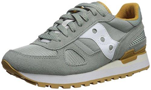 Saucony Originals Women's Shadow Original Running Shoe, Green/White, 6 Medium US -