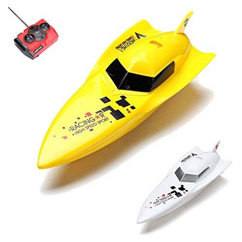RC ferngesteuertes Speedboot mit wiederaufladbarem Akku, Racingboot, Schiff, Boot, Komplett-Set inkl. Fernsteuerung