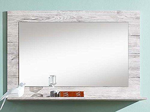 """Preisvergleich Produktbild Spiegel Flurspiegel Wandspiegel Dekospiegel Hängespiegel Holzspiegel """"Peoria I"""" Sandeiche/Weiß"""