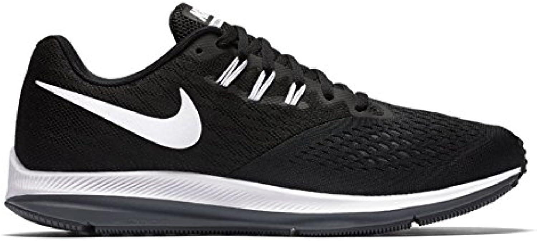 Zapatillas de running Nike Air Zoom Winflo 4 para hombre, negras / blancas / gris oscuro 11.5 D (M) US