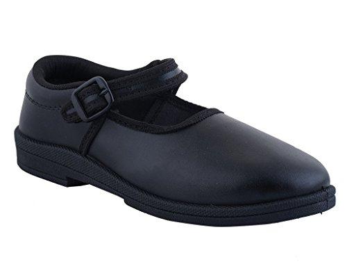 SnugIt Black School Shoes For Girls