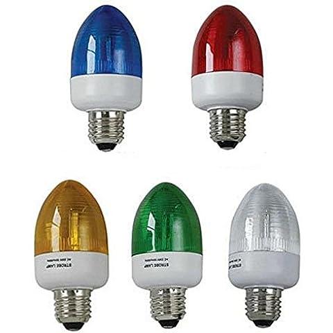 LOTTO DI 3-LAMPADA STROBOSCOPICA STROBOSCOPICA LAMPEGGIANTE FLASH STROBO 1 W E27, COLORE: VERDE