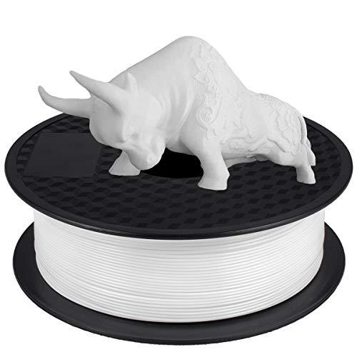 PLA Filament 1.75mm, GIANTARM 3D Drucker Filament PLA 1kg Spool (Weiß)
