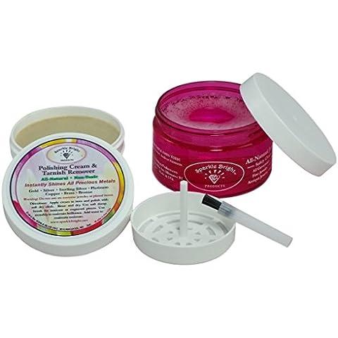 Sparkle Bright Productos all-natural | Limpiador de Joyas por Ultrasonidos Limpiador de & kits