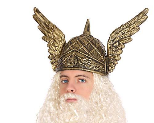 Atosa-58331 Casco Dios Vikingo Thor, Color Dorado (58331