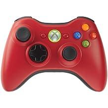 Microsoft Xbox 360 Wireless Controller - Volante/mando (Mando de juegos, Xbox, Inalámbrico, Rojo)