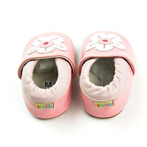 Sneaker Blume Cartoon Jungen Baby Frog Leap Rosa Lauflernschuhe Leather 4t8wfqx