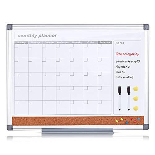 SwanSea Tablero calendario mensual pizarra magnética