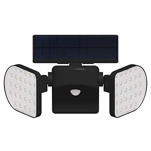 Foco Solar de Doble Cabeza con 56 Luces LED para Exteriores con...