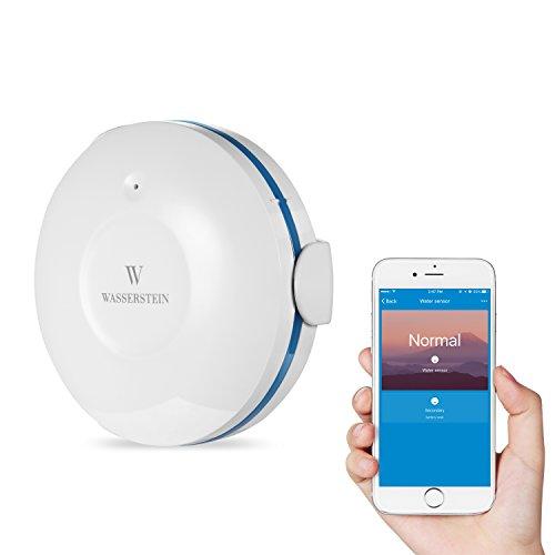 Smart Wi-Fi Wassersensor, Überflutungs- und Leckdetektor – Wassermelder mit Alarm und App-Benachrichtigungen, keine teuren Zusatzkomponenten...