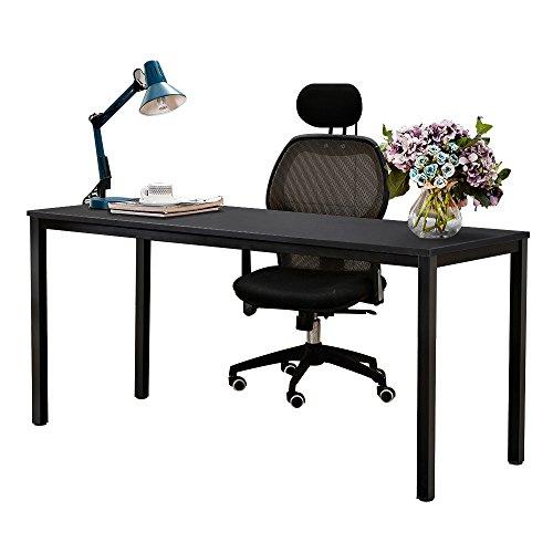 Need Schreibtisch 160x60cm Computertisch PC-Tisch B¨¹rotisch Arbeitstisch Konferenztisch Esstisch Holz gro?e Gr??e, Schwarz AC3CB-160-N