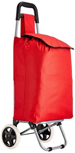 MSV Einkaufstrolley mit 2 Rollen 91x35x29cm in rot, Plastik, 91 x 35 x 29 cm