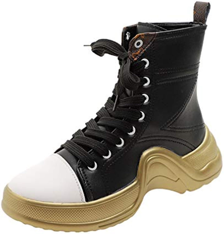 oroGOD Europa E Stati Uniti Uniti Uniti Abbinamenti Di Coloreee Sportivo Scarpe Da Donna Casual High-Top In Pelle Con Scarpe...   Vogue    Scolaro/Ragazze Scarpa  5531e0