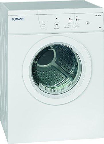 Bomann WT 5019 Ablufttrockner / 6 kg / 10 Trocken / 1 Zeitprogramm und Zusatzoption/weiß
