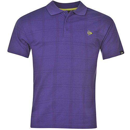 Dunlop Herren Poloshirt Schwarz Violett XX-Large