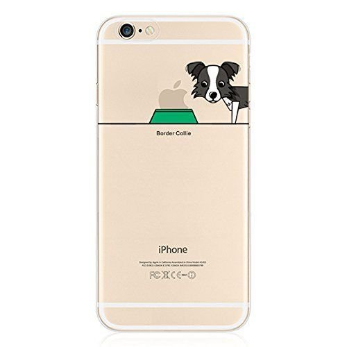 Hartschale Hochwertiger Weich iPhone 4/4S–Hund Dog Pug Chihuahua Bull witziges Design Swag Motiv Design Case + mit Displayschutzfolie border