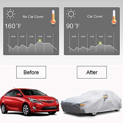 NOVSIGHT Autoabdeckung Autoplane Autogarage Wasserdicht Staubdicht Schneeschutz Sonnenschutz UV-beständig Anti-Fouling Vollgarage XL