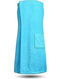 Saunakilt Saunatuch für Damen 100 % Baumwolle mit praktischem Schnellverschluss Oeko-Tex® 100
