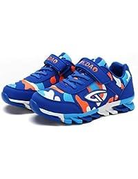 aemember Boys 'zapatos ETTE primavera caída comodidad zapatos de Athletic zapatos de senderismo Magic cinta para Casual Royal azul negro/verde/rojo/azul oscuro, US4 / EU36 / UK3 Big Kids, Royal Blue