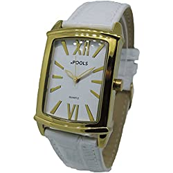 POOLS Women's Quartz Watch 1236 with Leather Strap