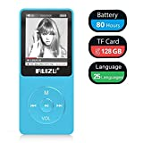 Mp3 Player, RUIZU X02 Ultra Slim Music Player with FM Radio, Voice Recorder