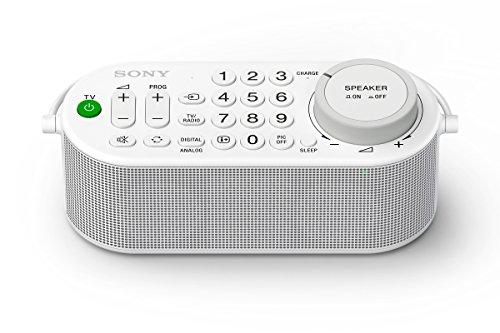 Sony SRS-LSR100 Tragbarer TV Funklautsprecher (Fernbedienungsfunktion, Kopfhöreranschluss, 16 Stunden Laufzeit, kompatibel mit vielen TV Marken, kabellose Verbindung) Weiß