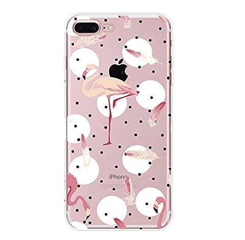 Incendemme Coque Housse / Etui Téléphone en Silicone Souple Serie Flammant Coque Rose TPU pour iPhone (iPhone 7, 5)