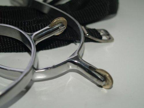 Rädchensporen kleines Rad Sporen Rädchen Radsporen Dorn 2 cm Chrom rostfrei + GRATIS Riemchen