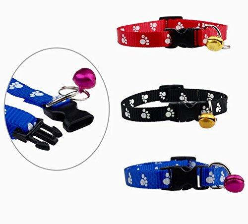 OHA-Pet Pfotenhalsband für Hund & Katze 20-31 cm mit Glöckchen (Farbe Rot)