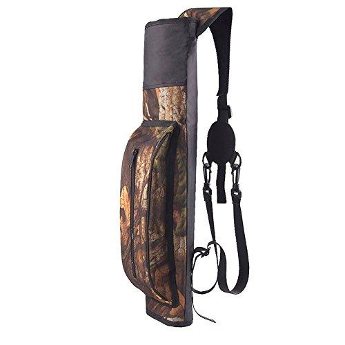 broadroot Multifunktionaler Arrow Holder Gürteltasche Single Nylonhülle Tasche Schultertasche Rücken Pfeil Köcher Bogenschießen Bogen für Outdoor Jagd, camouflage
