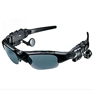 Bounabay Sports Bluetooth V4.1 Headphone Sunglasses - Day Use UV Protection Lenses (Gray)