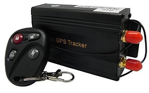 Gearmax® Véhicules de GPS Tracker 103B Avec contrôle à distance GSM alarme fente pour carte SD antivol Realtime Spy Tracker GPS103B TK103B pour GSM GPRS GPS Système de suivi des périphériques