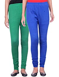 Belmarsh Warm Leggings - Pack of 2 (Green_Royal_Blue)