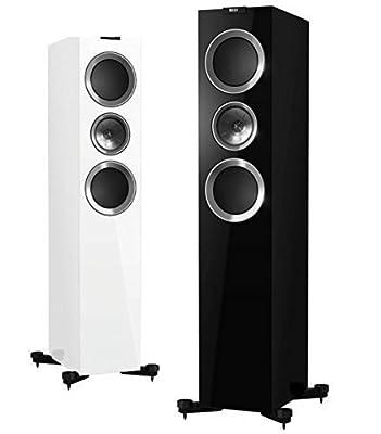 Diffusore Hi-Fi Kef R 700 acustico da pavimento 3 Vie Bass Reflex White/Black; coppia/pair altoparlanti/floorstanding