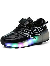 Mr.Ang Niños Unisex LED Luz Parpadea Ruedas Zapatillas Auto-párrafo Roller Zapatos Patines Deportes Zapatos Correr Para Niños