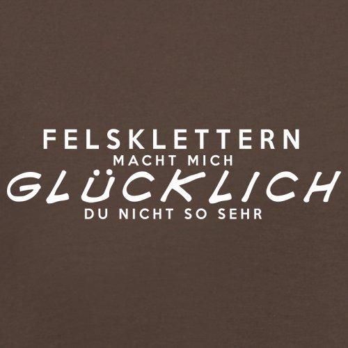 Felsklettern macht mich glücklich - Herren T-Shirt - 13 Farben Schokobraun