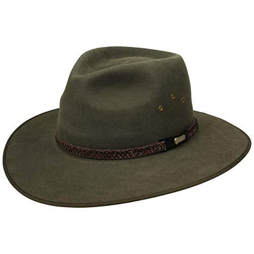 Sombrero Fieltro Pelo Tablelands by AKUBRA sombrero de cazasombrero outdoor  (55 cm - verde oliva 6f436c0ffc2