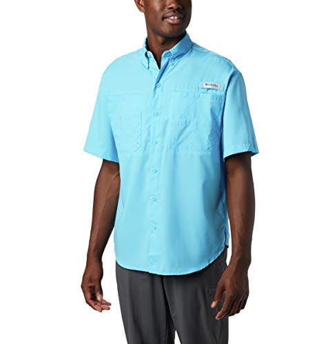 Tamiami Angeln Shirt (Columbia Tamiami II S/S, Herren, 1287051, Riptide, XXL)
