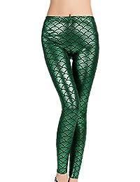 DIAMONDKIT Women Sexy Mermaid Fish Scale Leggings