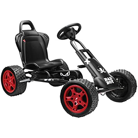 Ferbedo 005311 Cross Runner Bad Boy - Coche de pedales, color negro