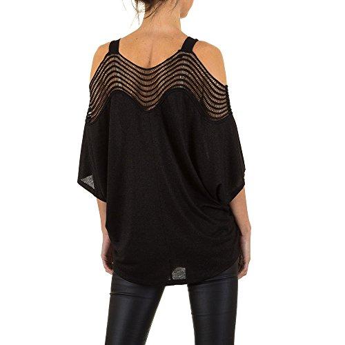 Cold Shoulder Bluse Für Damen bei Ital-Design Schwarz
