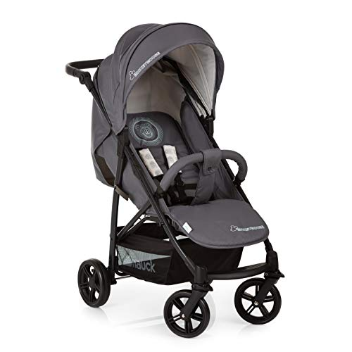 Hauck Rapid 4X- silla de paseo ligera desde nacimiento hasta 25 kg/respaldo reclinable/plegable con una mano/capota XL extensible/manillar regulable/asa de transporte/Mickey Cool Vibes (gris)