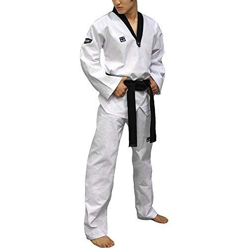 Mooto Taekwondo Uniforme con Cuello en v Corea para Hombre 190 (180cm ~ 190cm) (5.90ft ~ 6.23ft) Blanco