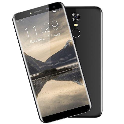 Smartphone Débloqué Oukitel C8 4G Téléphone Portable Pas Cher (Écran: 5.5 Pouces HD Rapport d'Aspect 18:9 - 2Go RAM - 16Go ROM - Caméras 5 + 13MP - Empreinte Digitale - Double SIM - Android 7.0) Noir