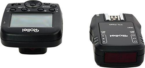 Rollei Funk Blitzauslöser Set - für Canon und Nikon - hochwertiges Blitzauslöser Set für professionelle  Hobbyfotografen und Fotografen - schwarz