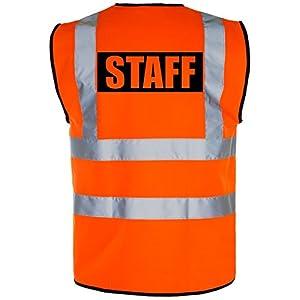 """Gilet di sicurezza """"STAFF"""" ad alta visibilità, colore giallo/arancione"""