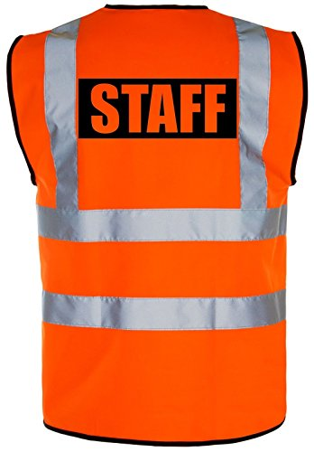 Corporate Togs Group Personnel High-viz haute visibilité visibilité Gilet de sécurité/Gilet | Jaune/orange - - MEDIUM adulte