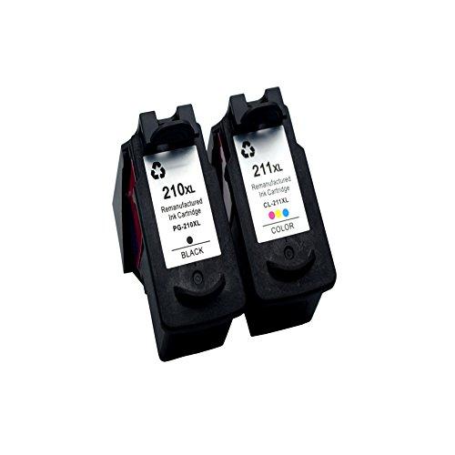 Komada 2x Kompatibel Canon pg-210X L cl-211X L (1BK + 1C) Hohe Qualität und große Kapazität Tintenpatrone kompatibel mit PIXMA iP2700PIXMA IP2702PIXMA MP240PIXMA MP270PIXMA MX350PIXMA - Drucker-tinten-patronen Canon-211