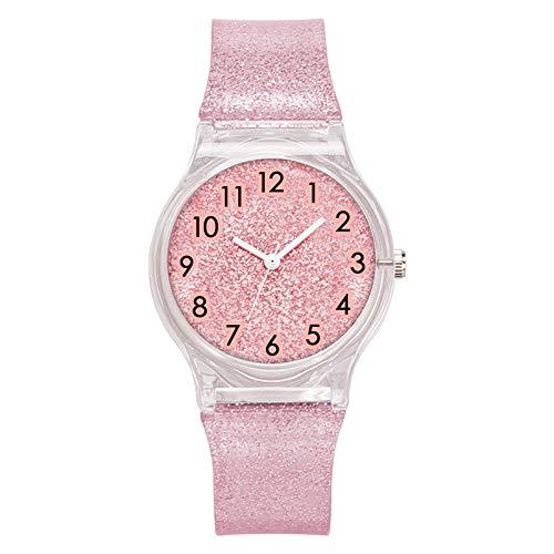 ulver Kunststoff Armband Uhr Platte Mode Trend Uhr Uhr Uhr Platte 34mm rosa ()